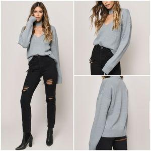 Tobi Alice Choker Neck Sweater